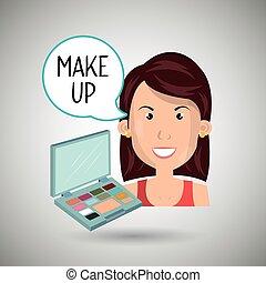作りなさい, 女, の上, 化粧品