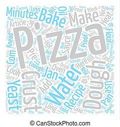 作りなさい, 手製, ピザ, テキスト, 背景, 単語, 雲, 概念