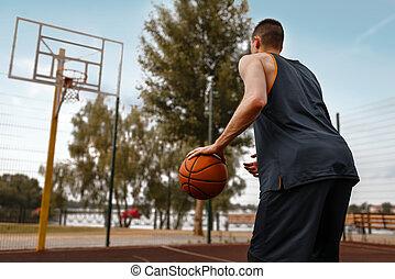 作りなさい, 投球, プレーヤー, バスケットボール, 準備する