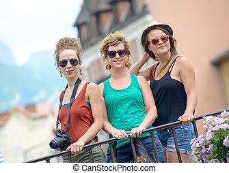 作りなさい, 3, 若い, annecy, 観光事業, 女性