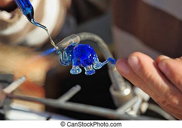 作り出す, artist-blower, 小立像, 象