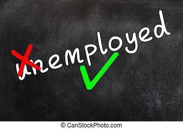 作成, 失業者, 雇われる