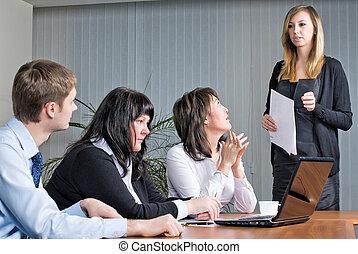 作成, 女, プレゼンテーション, かなり, ビジネス