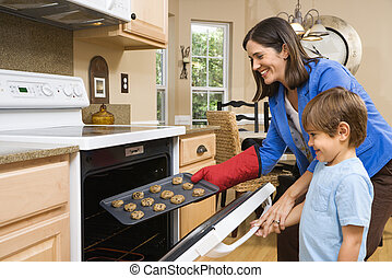 作成, 息子, お母さん, cookies.
