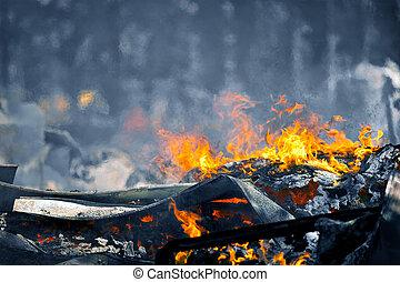 作成, 非常に, 効果, 空気, 火, 暑い, 動き