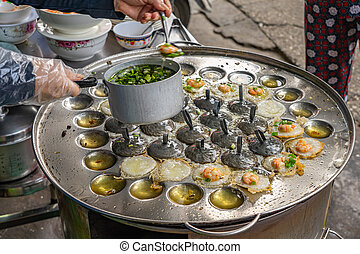 作成, khot, 女, sizzled, pancake-, vung, ベトナム語, tau, ごく小さい, ...