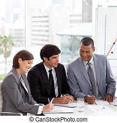 作戦, 新しい ビジネス, 提示, グループ, 論じる, 多様性