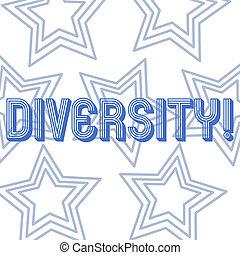 作曲された, 別, diversity., 写真, multiethnic, 変化, ある, テキスト, 提示, 任意である, 印, isolated., 多様, パターン, 概念, 星, 同心である, 繰返し, 国防総省, 白, 要素