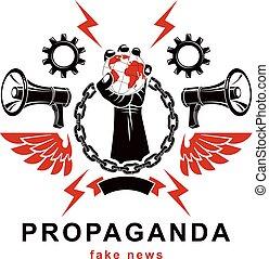 作曲された, chain., 上げられた, 革命, restrictions., 鉄, いいえ, 概念, ポスター, ...