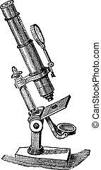作曲しなさい, 顕微鏡, engraving., 型