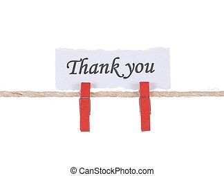 你, 感謝, 木制, 懸挂, 詞, 釘