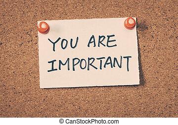 你, 重要