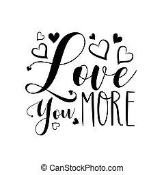 你, hearts., -, 爱, 书法, 更多