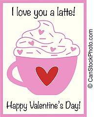 你, latte, 爱, valentine