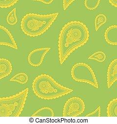 佩兹利涡旋纹花呢, ornament., pattern., seamless