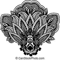 佩斯利螺旋花紋呢, 插圖