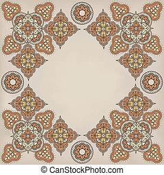 佩斯利螺旋花紋呢, 框架