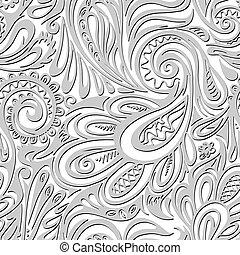 佩斯利螺旋花紋呢, seamless, 圖案