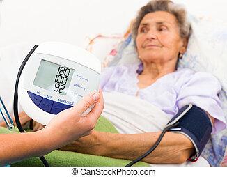 使うこと, デジタル, ゲージ, 血圧