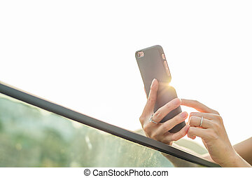 使うこと, 屋外, 携帯電話