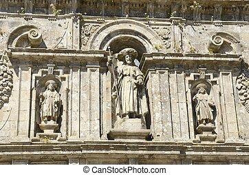 使徒, サンティアゴ, 弟子, 彫刻, 2