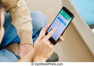 使用, 世話人, いかに, 追跡, 提示, 食物, app