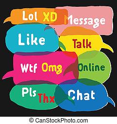 使用, 大多数, 演说, 普通, acronyms, 气泡