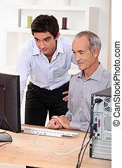 使用, 彼の, 孫, 提示, 祖父, いかに, コンピュータ