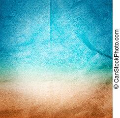 使用, 海, ∥そうするかもしれない∥, 抽象的, リサイクルされる, ペーパー, 背景, 浜, 手ざわり