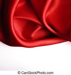 使用, 滑らかである, 優雅である, 缶, 背景, 絹, 赤