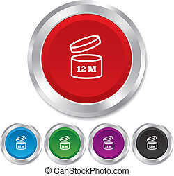 使用, 12, 月, 後で, 印, icon., 開始