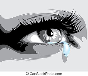 例証された, 涙, 目