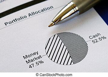 ∥例証する∥, チャート, パイ, allocation, 資産, ポートフォリオ