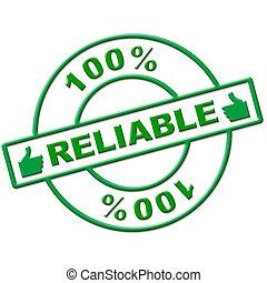 依存しなさい, 手段, 信頼性が高い, パーセント, 百, relying, 絶対