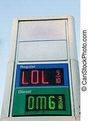 価格, ガス