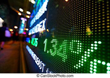 価格, ディスプレイ, デジタル, 抽象的, 市場, 株