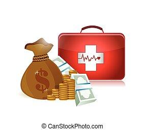 価格, 健康, デザイン, イラスト, 心配