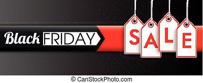 価格, 金曜日, セール, ヘッダー, 黒, 掛かること, ステッカー
