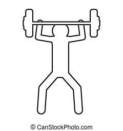 侧面影象, 媒介, weightlifting, 人