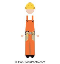 侧面影象, 工人, toolkit, 人
