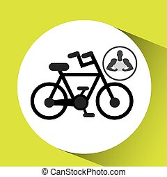 侧面影象, 显示, 肌肉, bycicle, 人
