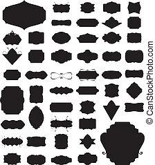 侧面影象, 矢量, 放置, 在中, 50, 框架