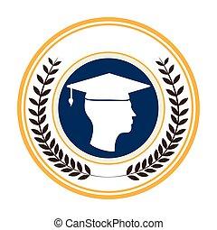 侧面影象, 离开, 王冠, 毕业生, 边界, 圆