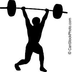 侧面影象, weightlifter