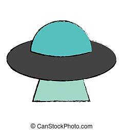 侵略, イメージ, 未来派, ufo