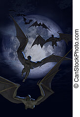 侵略, 蝙蝠, 生物