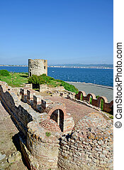 保加利亞, 古老, 連合國教科文組織, 站點,  nessebar, 遺產, 世界, 要塞