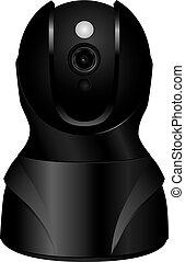 保安用カメラ, 頭, 旋回装置