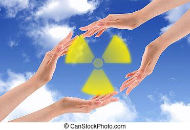 保护, 世界, 从, radioactive.