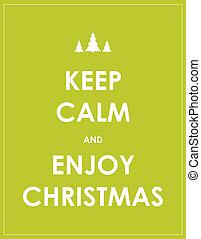 保持, 現代, 聖誕節, 背景, 平靜